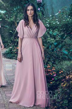 Blush Sheath-Column V-Neck Chiffon Bridesmaid Dress Bridesmaid Dress Colors, Long Bridesmaid Dresses, Prom Dresses, Formal Dresses, Wedding Dresses, Modern Filipiniana Gown, Couture Dresses, Fashion Dresses, Iranian Women Fashion