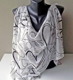 Handmade silk scarf Heart in silk Art.266  Ready by MarijanaSilk, $52.00
