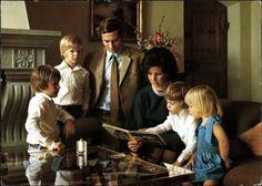 diadumenian:  family of then Hereditary Prince Hans-Adam II of Liechtenstein, mid 1970s-Maximilian, Alois, Hans-Adam, Marie Aglae, Constantin, Tatjana