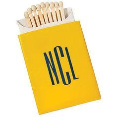 monogrammed matches