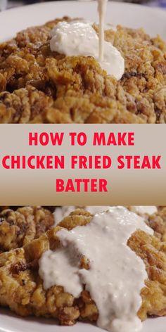 Chicken Fried Steak Batter, Beer Battered Chicken, Chicken Steak, Shredded Chicken Recipes, Baked Chicken Recipes, Cube Steak Recipes, Minute Steak Recipes, Beef Recipes, Baked Apple Dessert
