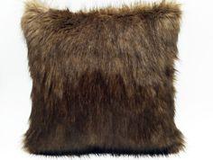 Designer Faux Fur Cushion Small Pillows, Throw Pillows, Faux Fur, I Shop, Cushions, Bedroom, Brown, Design, Toss Pillows