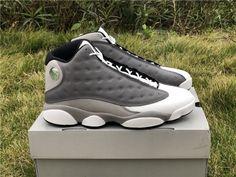 online retailer c3951 81b7f 2019 New Air Jordan 13 Atmosphere Grey White University Red-Black For Men-5.  Jordan Shoes To Buy