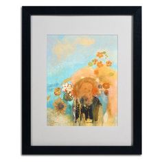 """Trademark Art 'Evocation of Roussel 1912' by Odilon Redon Framed Painting Print Frame Color: Black, Size: 20"""" H x 16"""" W x 0.5"""" D"""