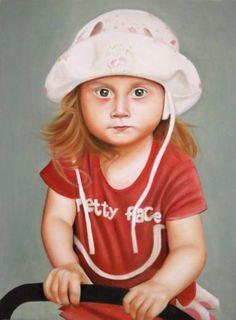 "Saatchi Art Artist Gennaro Santaniello; Painting, ""Pretty face"" #art"