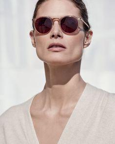 O'Malley NYC Peaked Round Photochromic Sunglasses, Amber