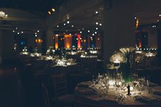 Wedding reception at the Tribeca Rooftop. Captured by NYC wedding photographer Ben Lau.