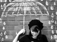 chalk, campus buildings --- simple backdrops/formulas/thought bubbles