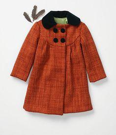 Girls coat from handmade charlotte for anthropologie.