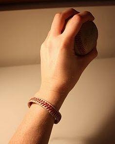 Baseball bracelet: @Tara Harmon Harmon Lefave, got a baseball? I got an exacto knife!