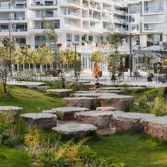 Mellemrummet « Landscape Architecture Platform | Landezine Landscape Architecture, Landscape Design, Garden Design, Rain Garden, Parks N Rec, Urban, Mansions, House Styles, Nature
