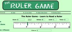 Fast-paced interactive measurement game - adaptable to different levels: half-inch, quarter-inch, etc.