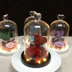 Rose Lovely Teddy Bear Molding Led Light In A gifts Flask