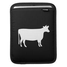 Cow Pictogram iPad Sleeve