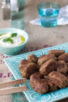 Lentil Keftethes (faux meatballs) with Tzatziki [Greek Vegetarian]