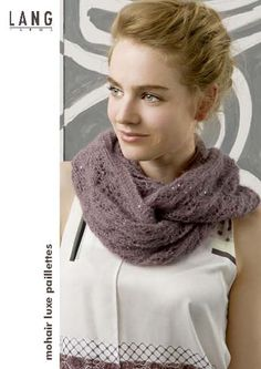 New patterns from LANGYARNS for the lovely Mohair Luxe Paillettes - ultra-light mohair-silk with sequins