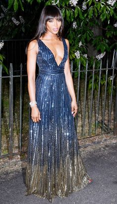 Who:Naomi Campbell What: The Serpentine Gallery Summer Party, London. Wear:Hilfiger Collection dress.