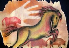 cool cave art- maybe for fourth grade horses unit