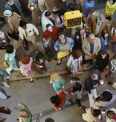 taken by - Alex Prager, image - crowd #11 (Cedar and Broad Street), series 'Face In The Crowd', 2013.