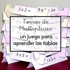 Aprender las tablas con las Torres de multiplicar a través de un proceso divertido y en el que el juego y la participación sean el centro! School Suplies, Math Class, Maths, Reggio Emilia, Multiplication, Math Games, Mathematics, Homeschool, Classroom