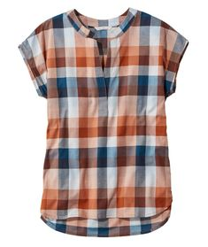 Find the best Signature Madras Shirt, Short-Sleeve Split-Neck Popover at L. Our high quality Women's Shirts and Tops are thoughtfully designed and built to last season after season. Short Kurti Designs, Kurta Designs Women, Blouse Designs, Madras Shirt, Kurti Designs Party Wear, Stitch Fix Outfits, Shirt Blouses, Shirts, Short Tops