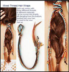 mixed thread hair wrap