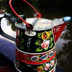 Water can Canal Boat Art, Water, Water Water, Aqua
