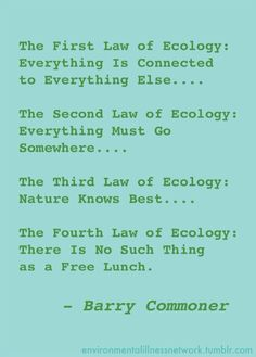 Barry Commoner's Laws of Ecology