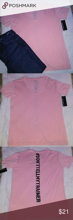 JESSICA SIMPSON Activewear Tees Ripped, short sleeve t-shirts, says size S, but it fits a size Large person, very comfy, Powder Pink, 1% Polyester, 38.2% Rayon, 3.7% Spandex. Jessica Simpson Tops Tees - Short Sleeve