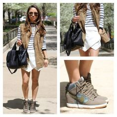 Vamp up your street style with a wedged sneaker. Pose by viewfrom5ft2