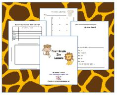 Classroom Freebies Too: Free 1st Grade Emergency Sub Plans? Yes!