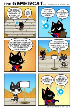 He's a cat. He plays video games.A weekly webcomic about gaming felines and their wacky adventures! Chat Gamer, Gamer Cat, Video Game Memes, Video Games Funny, Funny Games, Star Citizen, Funny Webcomics, Animal Crossing Memes, Space Games
