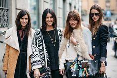 Street style - Milan Fashion Week - Carlotta Oddi and Chiara Totire