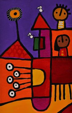 De la serie Día de Sol – R005 - Lucila Manchado Collages, Arte Popular, Ped, Cube, Graffiti, Toys, Wallpaper, Illustration, Ideas