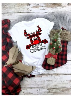 Buffalo Plaid Reindeer Svg,, Reindeer Svg, by EnchantedSVG on Zibbet Christmas Tee Shirts, Christmas Pjs, Christmas Vinyl, Ugly Christmas Sweater, Christmas Outfits, Christmas Sayings, Christmas Clothing, Xmas Pjs, Matching Family Christmas Pajamas