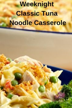 Weeknight Classic Tuna Casserole - My Recipe Magic Brunch Casserole, Tuna Casserole, Casserole Dishes, Food Dishes, Main Dishes, Recipe Filing, Pasta Dinners, Cream Of Chicken Soup, Seafood Recipes