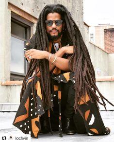 @paulbeaubrun || men with locs. Loc'd hair. Men with long locs. Dreads. Dreadlocs. Black men with locs. Black men with long locs. Black men.