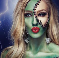 Beauty bride of #Frankenstein #halloween #makeup | Costume Makeup ...