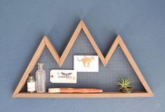 Berg Wandkunst, Regal, Mountain Home Decor, Wandbehang, Wandregal, Altholz, Anweisung Stück, moderne, industrielle, rustikal,