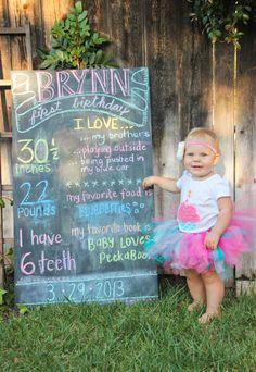 1st birthday chalkboard