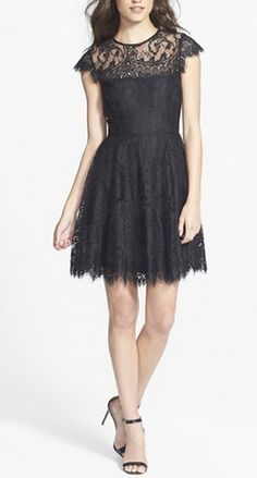 Little black dress with lace detailing. #littleblackdress
