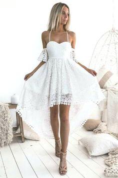 vestito da sera per matrimonio abito da cocktail Vestito da donna elegante in pizzo lunghezza al ginocchio Senza maniche KOJOOIN abito da damigella donore S