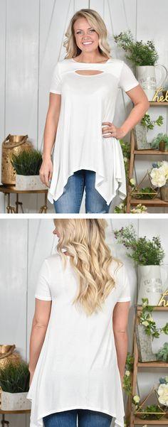 White Cutout Top | Lane 201 Boutique