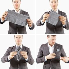 Pocket squares are meant to complement, not match. | 16 Ways To Dress Like A Grown Man