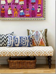 African inspired textiles from a page out of @Janell Beals House of Fifty