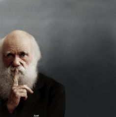 Charles Darwin, photo by by Yousuf Karsh, retouched by Mads Madsen