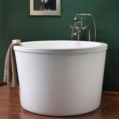 """47"""" Caruso Round Japanese Soaking Tub- Favorite memory of DisneyWorld was when we stayed in the (now defunct) Tree House Villas, which had one of these tubs."""