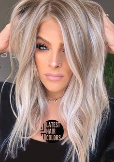 Hair Color Balayage, Hair Highlights, Latest Hair Color, Latest Hair Trends, Ash Blonde Hair, Dark Hair, Short Blonde, Grey Hair, Fall Hair Colors