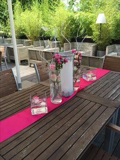Dekoration Für Draußen Auf Der Terrasse, Hochzeit In Pink