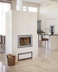 Kiven Herra / Nammi-fireplace by Tulikivi at Asuntomessut 2013.